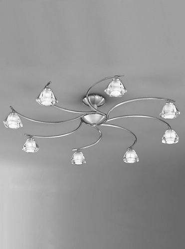 Franklite FL2294/8 Satin Nickel Ceiling Light